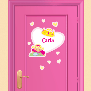 Personalised princess wall stickers