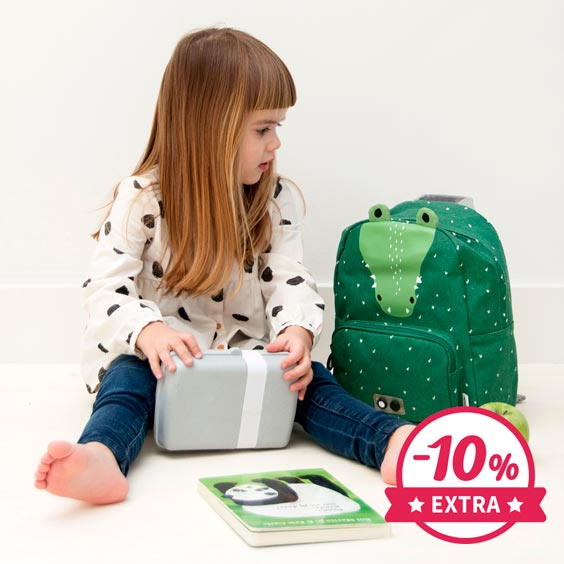 10% Extra Sac à dos Trixie maternelle Mr. Crocodile