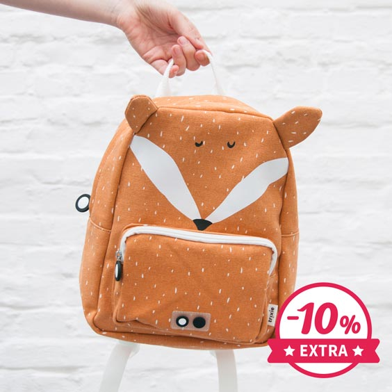 10% Extra Sac à dos Trixie maternelle Mr. Fox