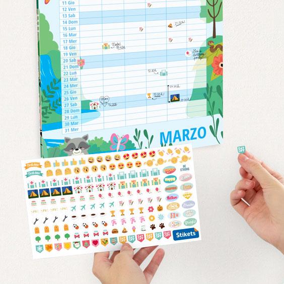 Calendario di pianificazione personalizzato