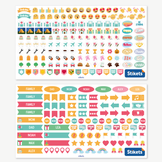 Family Calendar Stickers