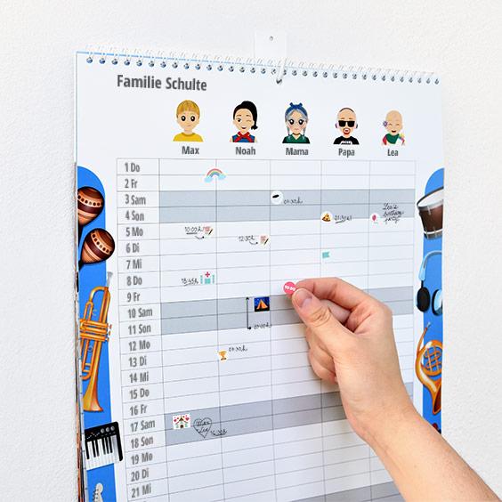 Familienplaner-Kalender mit Twienies