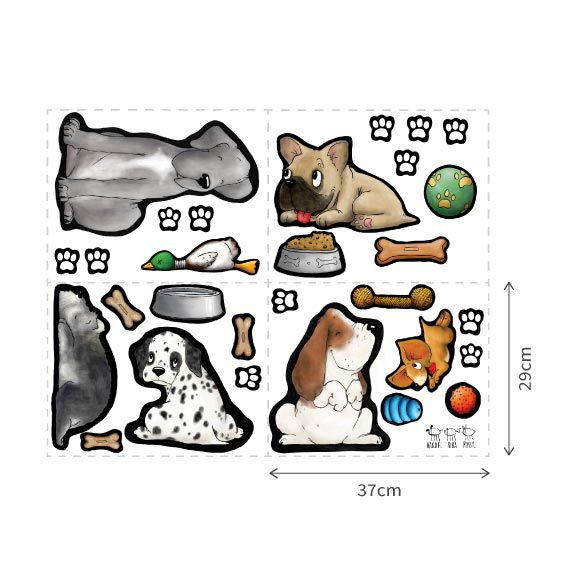 Dog Collection Wall Decals