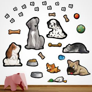 Stickers Enfants Chiens de race
