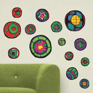 Stickers Mandalas de couleur