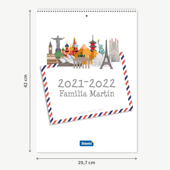 Calendario planificador familiar (17 meses)