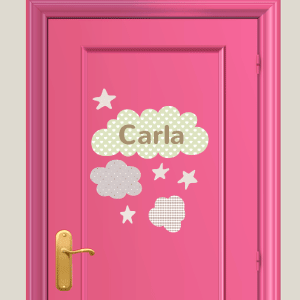 Personalised clouds wall stickers