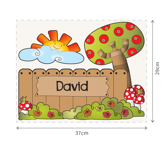 Personalizable Fence Sign 1