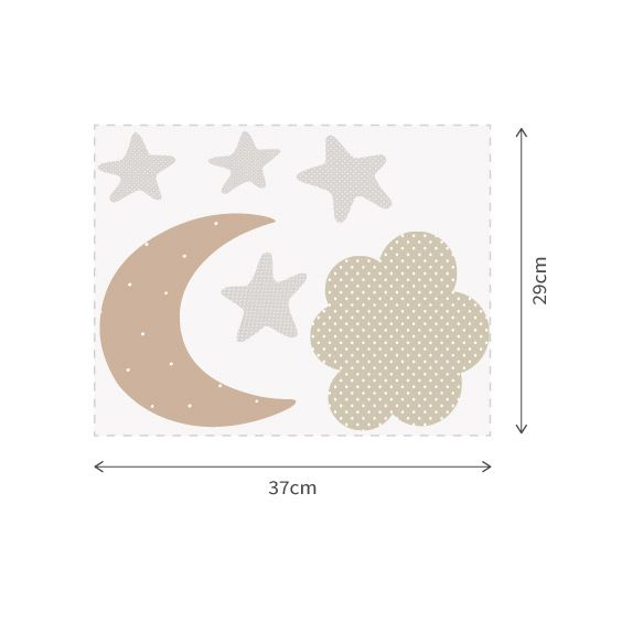 Moon, Cloud and Star Wall Decals