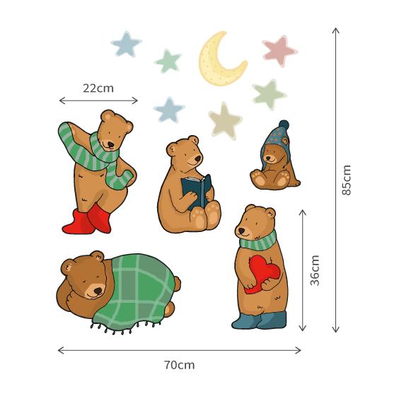 Teddy Bear Wall Decals