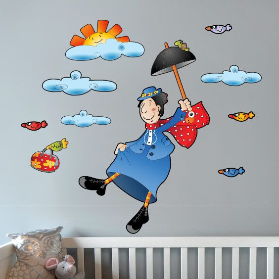 Stikets The Flying Nanny Wall Decal