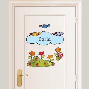 Personalised birds wall stickers