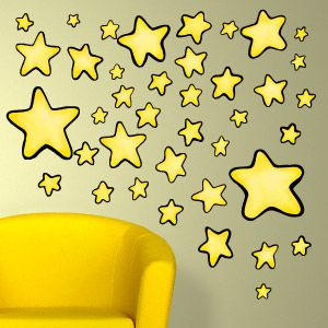 Stars wall stickers