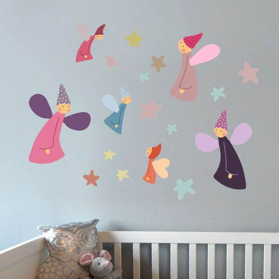 Colorful  Fairies Wall Decals 2