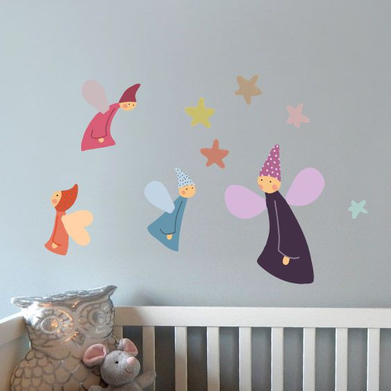 Colorful  Fairies Wall Decals 1