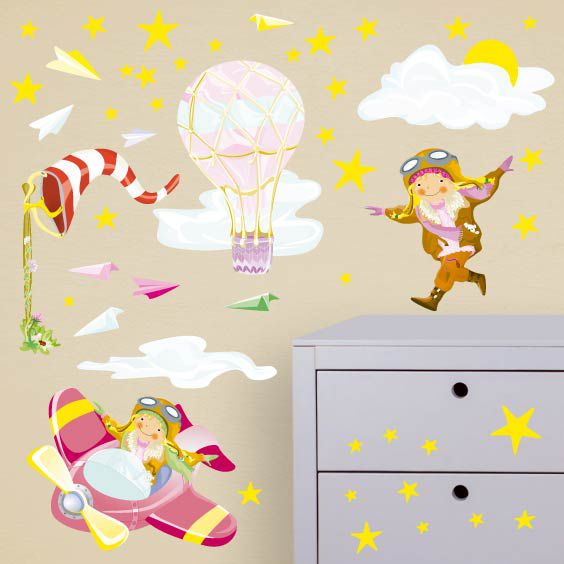 Pilot Girls Wall Decals