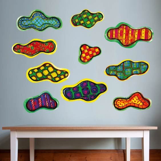 Colored Clouds Wall Decals