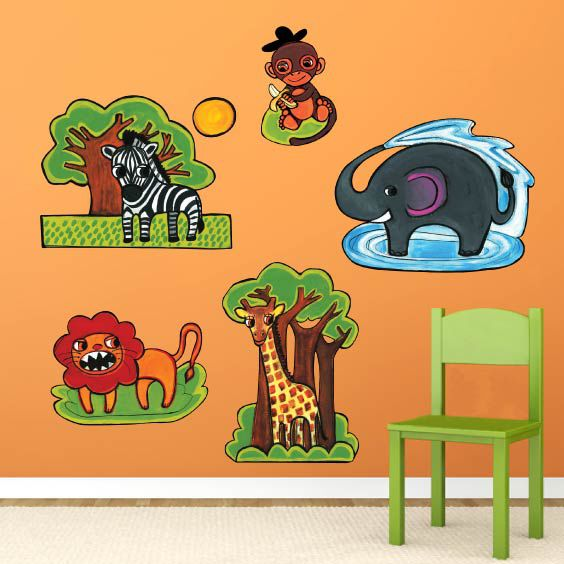 Stickers animaux de la jungle