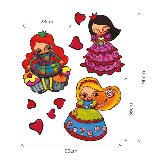 Stickers princesses aux cupcakes 3