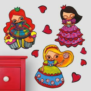 Stickers princesses aux cupcakes 3