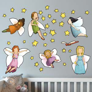 Fee Meisjes Muursticker 3 or Fairy