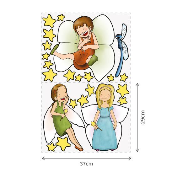 Fairy Girls Wall Decal 2