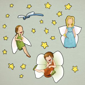Fairy girls wall stickers 2