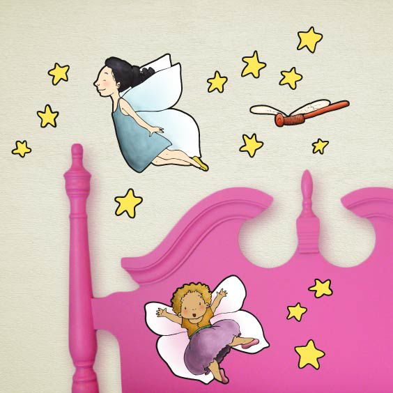 Girls with Wings Wall Decal