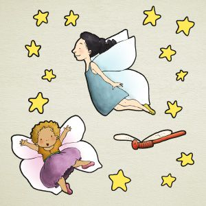 Girls with wings wall stickers