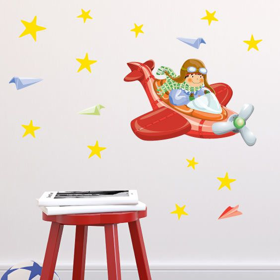 Flyer Boy Wall Decal