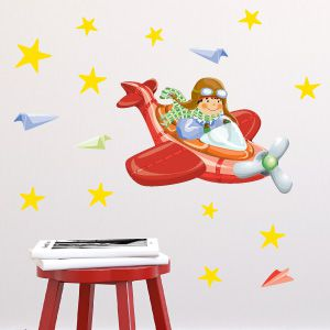 Aviator boy wall stickers