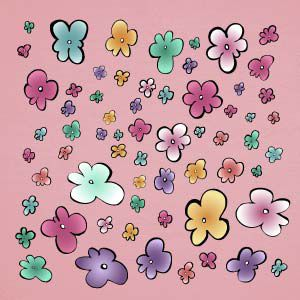 Colourful flowers wall stickers
