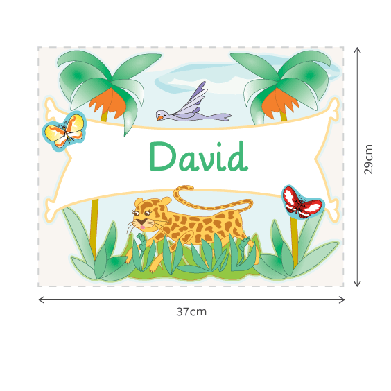 sticker Tigre de la jungle avec prénom