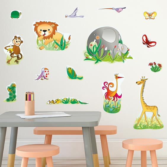 Animals in the Jungle Wall Decals 3