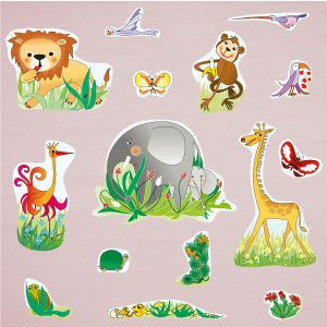 Stickers animaux de la jungle 3