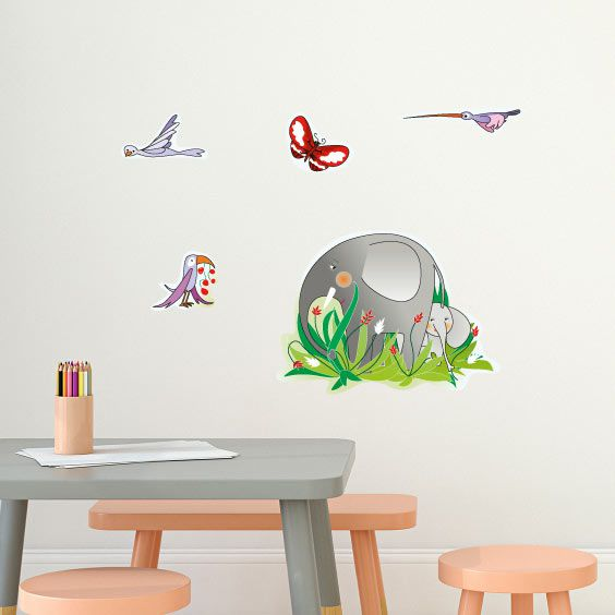 Jungle Elefant Wall Decal