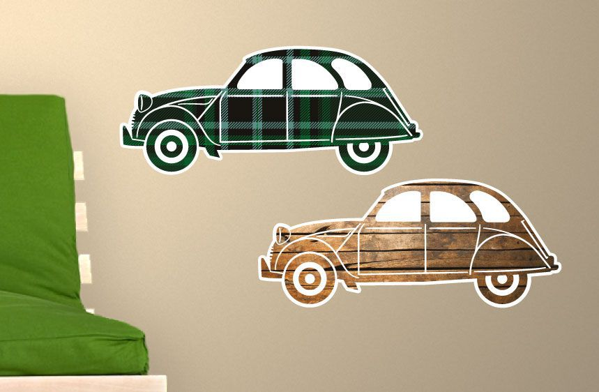 Stickers voitures 2CV 1