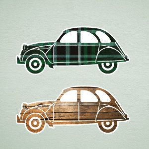 Cars wall stickers 2CV 1