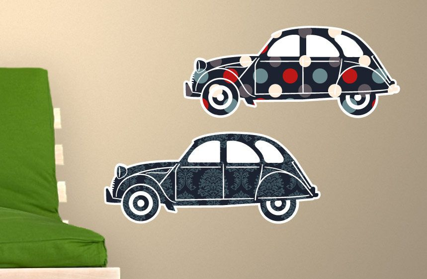 Cars Wall Decal 2CV 2