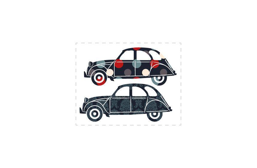 Stickers voitures 2CV 2