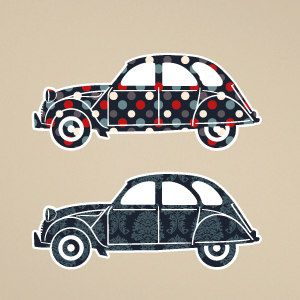 Cars wall stickers 2CV 2