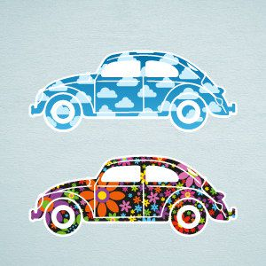 Beetle cars wall stickers 1