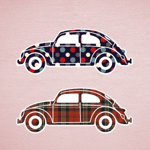 Beetle cars wall stickers 2