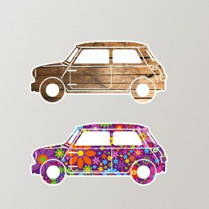 Mini Cars Wall Stickers 1