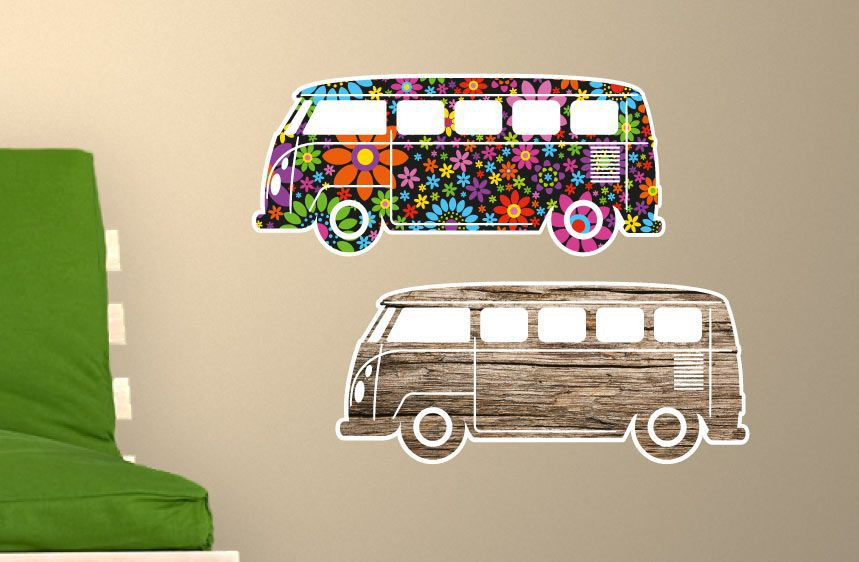 Cars Wall Decal VW Bus 1