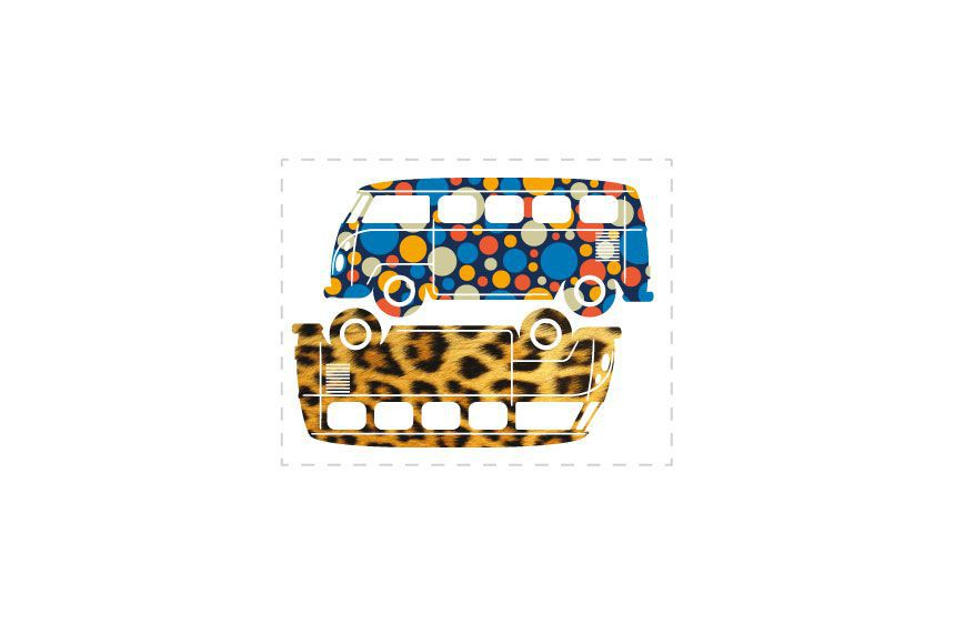 Stickers voitures VW Bus2