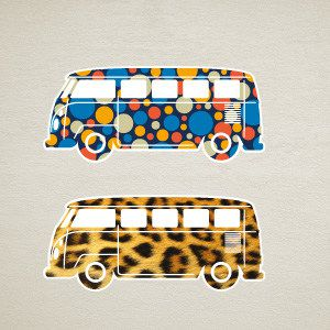 Cars Wall Decal VW Bus 2