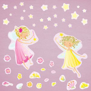 Fairies with stars wall stickers