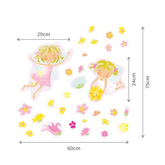 Fairies and Flowers Wall Decals