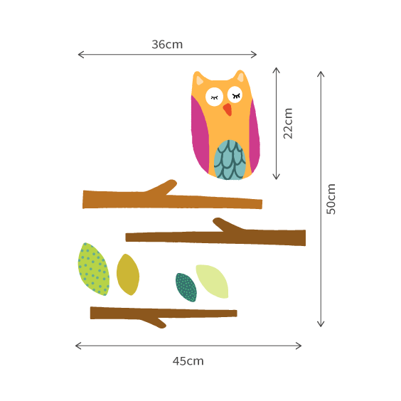 Owl in the Forest Wall Decal